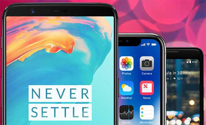 oneplus and apple iphone x